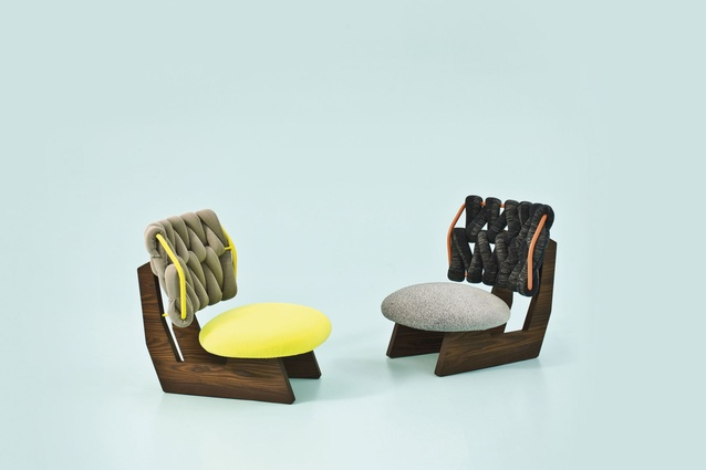 """Biknit armchair by Patricia Urquiola for Moroso 