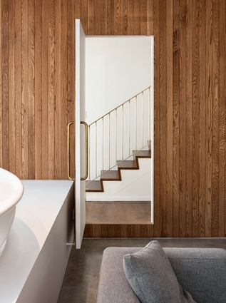 Knight's recent New Zealand work includes an extension of Simon James' showroom.