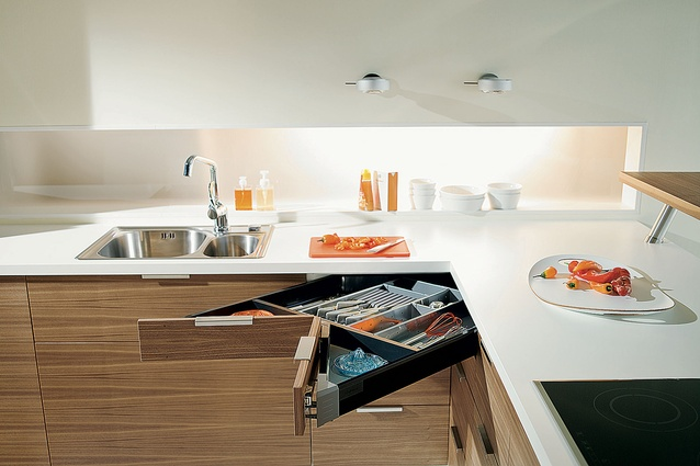 A Blum corner drawer unit to make the most of an awkward space.