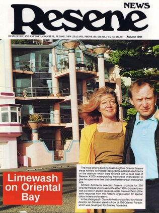 Claire Athfield and Ian Dickson are front page news back in autumn of '91.