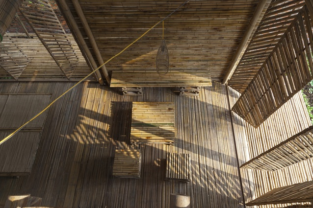Blooming Bamboo Home. A proposed affordable housing solution, the house is constructed with modular units and can be produced in only 25 days, costing approximately $2,500.