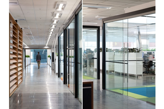The office space is one of the country's largest single-floor-plate workspaces.