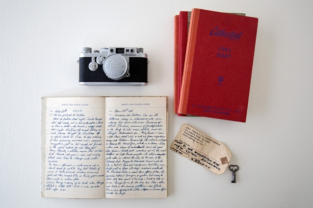 """Grandmother's diary: """"These journals were from my grandparents' travels and I often use them in my food styling. I love the softness that handwritten items add to a shot."""""""