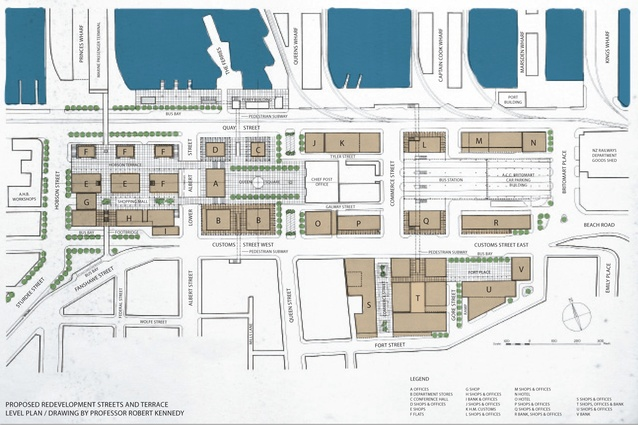 Proposed redevelopment streets and terrace level plan.