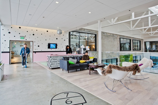 Airbnb office in San Francisco, designed by Gensler and Interior Design Fair.