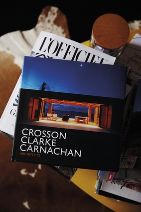 Crosson Clarke Carnachan book. Architect Ken Crosson is a friend of the couple's. Before they met him they both fell in love with a bach he designed.