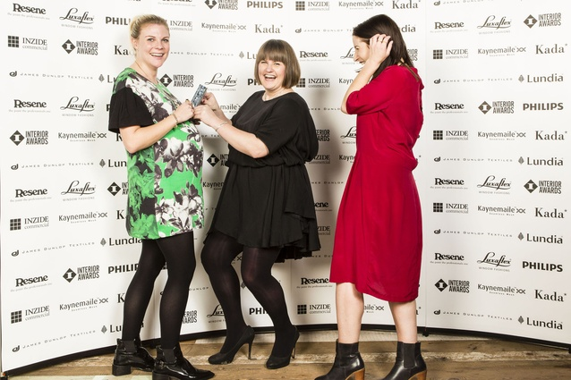 L to R: Liv Harper, Toni Brandso and Sarah Reid of Material Creative. Winners of Retail Award for Tonic Room.