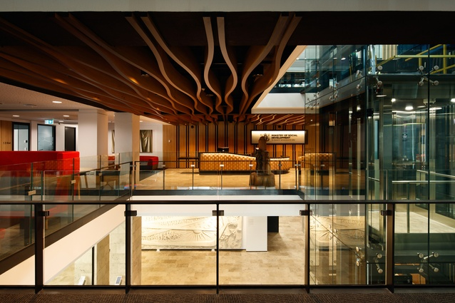 Interior Architecture winner: Ministry of Social Development Fitout by Studio of Pacific Architecture.