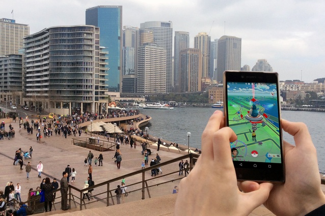 The Sydney Opera House is a Pokégym that frequently changes hands as the game's three teams battle for ownership over its virtual turf.