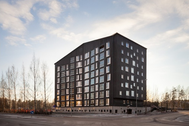 Puukuokka housing block, designed by OOPEAA, is the first eight-storey timber building in Finland, and has been awarded the 2015 Finlandia Prize for Architecture.