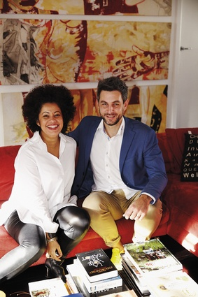 Jennifer Zea and Thomas Dietz in their home.