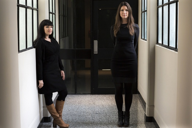 Co-founders of Bureaux, Jessica Barter (left) and Maggie Carroll.