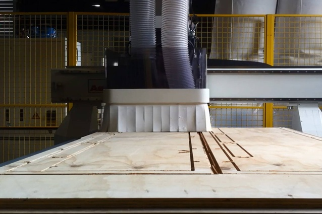 CNC machine in the Makers Fabrication workshop.
