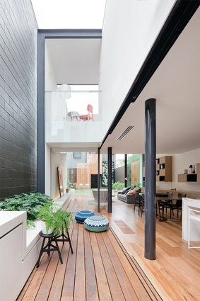 "<a href=""http://urbismagazine.com/articles/victorian-redux/"" target=""_blank""><u>Victorian Villa</u></a>. The central courtyard introduces plenty of light and becomes a passage between old and new."
