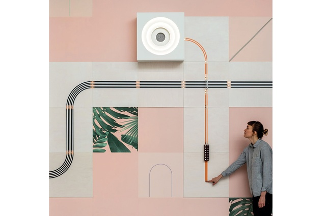 Interactive wall display by UM Project and Flavor Paper.