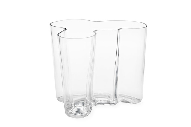 "Finnish design legend Alvar Aalto is behind this curvaceous clear vase, now available to buy from <a href=""https://store.moma.org/home/vases/clear-aalto-vase/v3085.html"" target=""_blank""><u>the Museum of Modern Art site</u></a>."