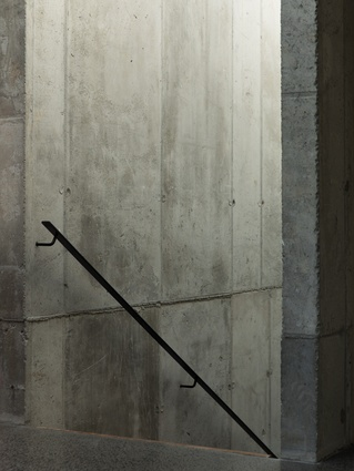 Poured House: Exposed concrete gives this home an organic quality with its raw imperfections.