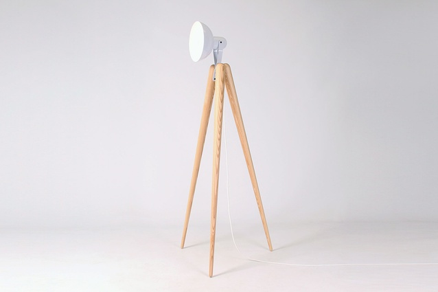 The Tall Fellow lamp, designed by Y.S Collective, is one of its many lighting designs.