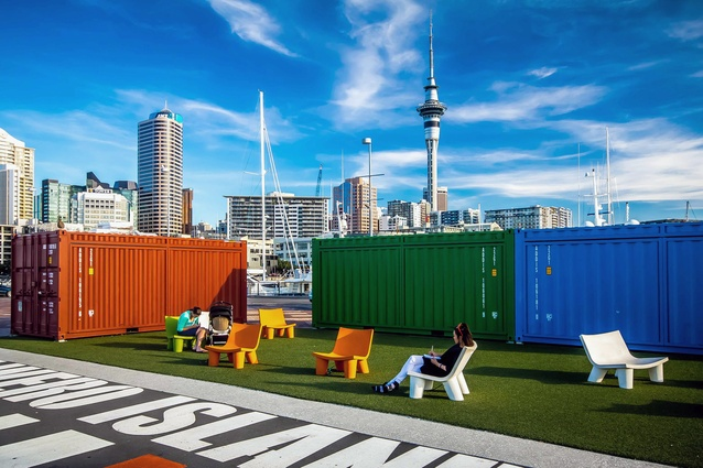 Container lounge, Wynyard Quarter.