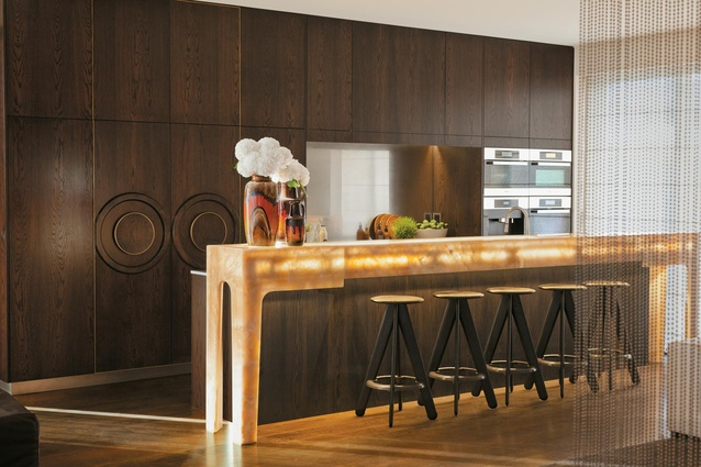 The kitchen – with Miele appliances, Gessi tap 