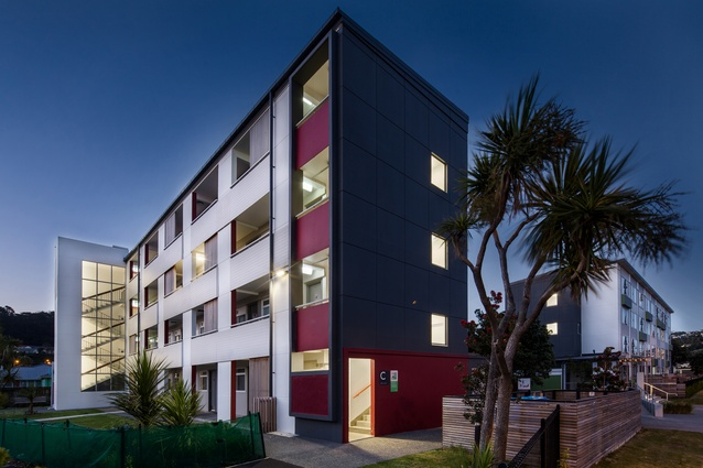 Resene Total Colour Multi-Residential Exterior Award: Kotuku Flats Upgrade by Opus Architecture.