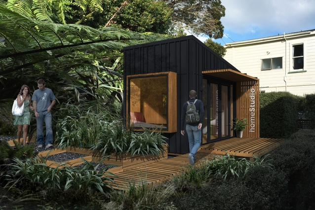 The modular Nook Home Studio, designed to be able to be constructed without consent in a backyard.