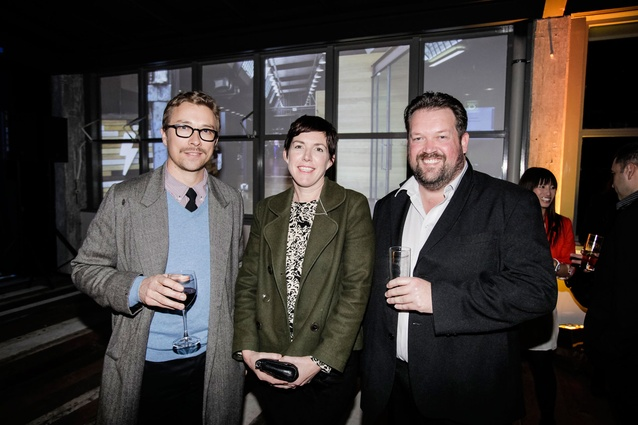 Photographer Simon Devitt with Shelley Quinn and Justin Foote, editor of Houses magazine.