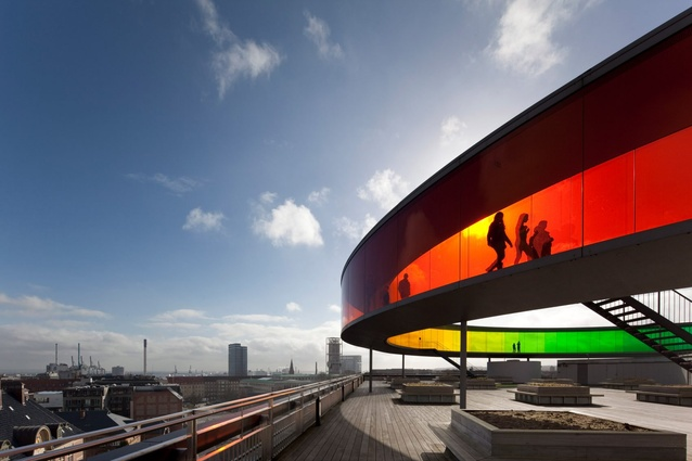Buildings in use: ARoS Aarhus Kunstmuseum, Denmark, by Schmidt Hammer Lassen and Olafur Eliasson, photographed by David Borland.