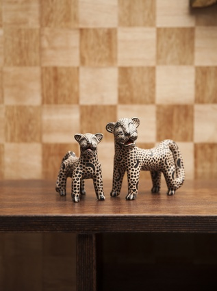 """Pair of jaguars: """"I bought these clay jaguars in Tulum, Mexico, for my fiancé's birthday. He has an obsession with large cats!"""""""