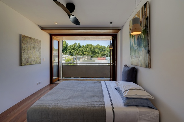 The main bedroom can be completely opened to the elements.