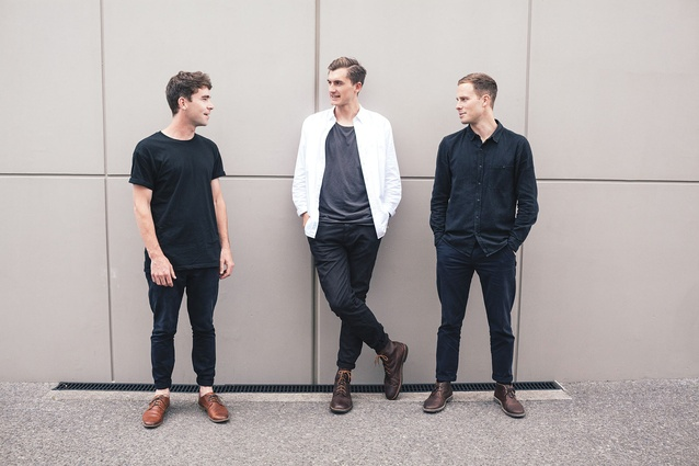 Samuel Griffin, Daniel Kamp and James McNab of Y.S (it stands for Yours Sincerely) Collective.