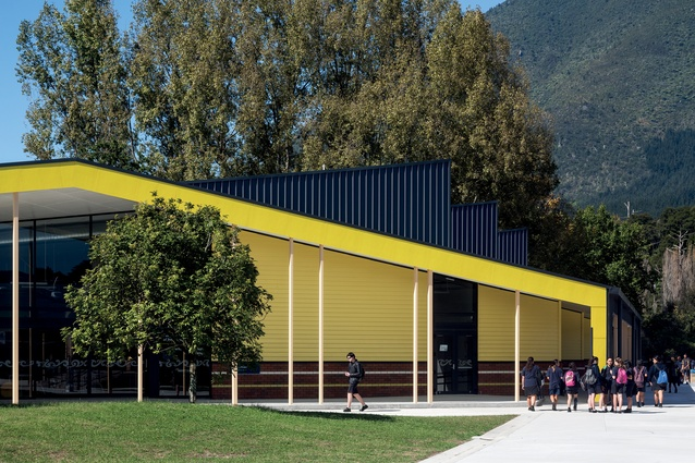 RTA Studio has designed these bright-yellow Innovative Learning Environments for the students attending Tarawera High School.