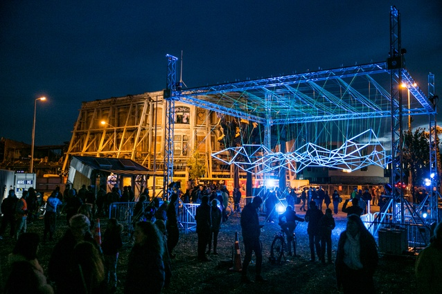 An Installation by Unitec's Team Influx on display at FESTA 2014.