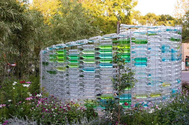 LuuTomes' <em>Glass Bottle Sanctuary</em> - a silver medal winner in the Home Garden category.