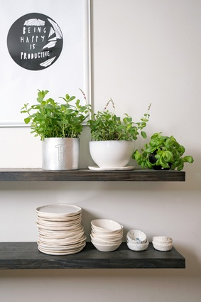 Fresh herbs, handmade ceramics and a quote that sums up Unna's infectious enthusiasm.