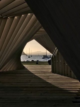 Small Project Architecture category finalist: Waiheke Gateway Pavilion by Stevens Lawson Architects.