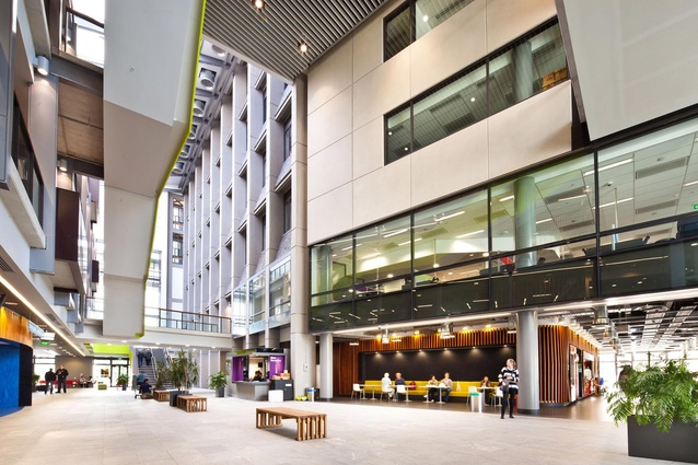 University of Auckland, Grafton Campus - New Boyle Building and Atrium and Refurbishment of Buildings 501, 502, 503, Level G & 1 by Jasmax.