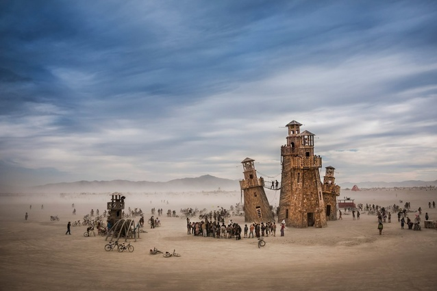 Sense of place: Black Rock Lighthouse Service at Burning Man, Nevada, USA, photographed by Tom Stahl.