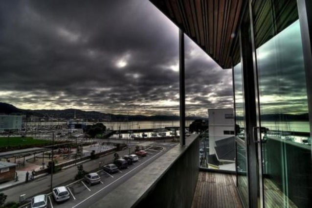 The views from Ohtel, Wellington's award-winning 10-room, boutique hotel.