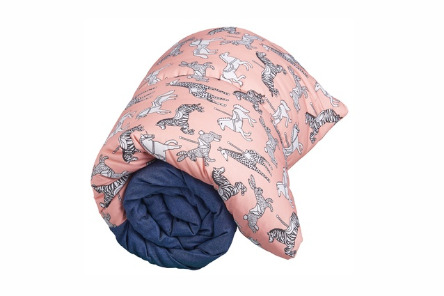 Pink Carousel, children's sleeping bag