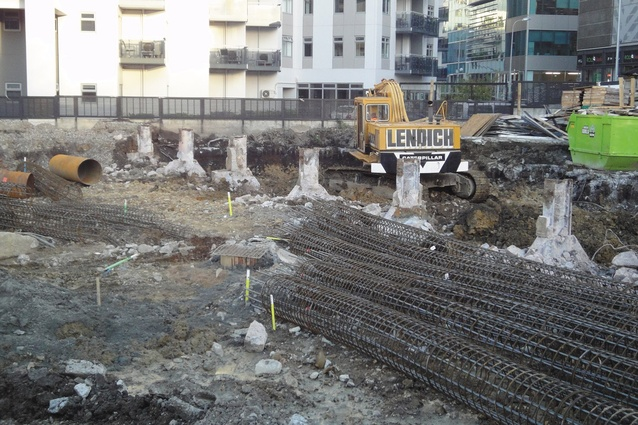 High levels of contaminants and old foundations were discovered during 