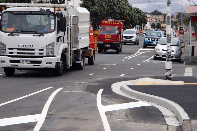 Wellington's Island Bay Cycleway: yet to be accepted by the local community.