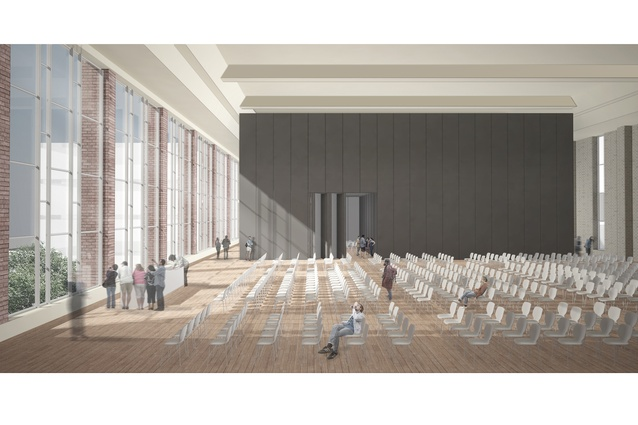 Interior render of Broadmeadows Town Hall.