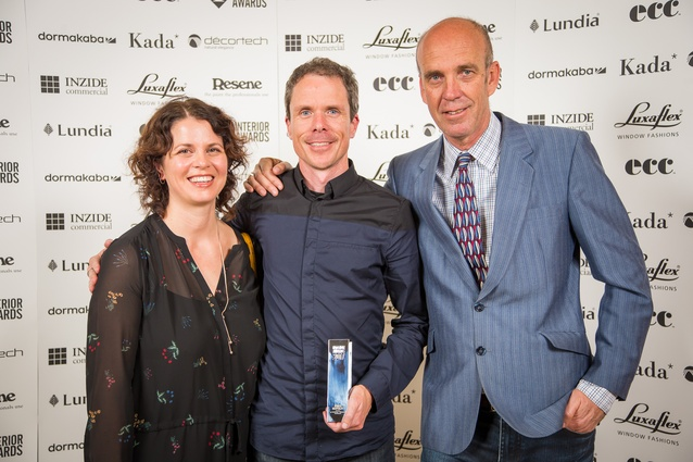 Tracy Lunjevich, Jack McKinney and Bryan Windeatt (McKinney + Windeatt) – winners of both the Supreme Award and Hospitality Award for Amano.