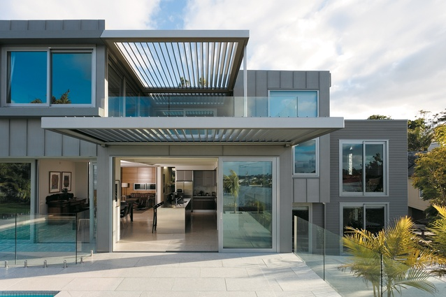 The north elevation of the Remuera house designed by Xsite Architects.