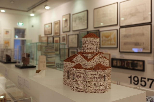 Models on display at the centenary exhibition of student works from the School of Architecture and Planning of the University of Auckland, open at Gus Fisher Gallery.
